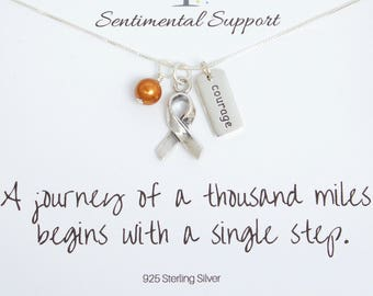 Holly Road Multiple Sclerosis Silver Chain Necklace Choose Your Text