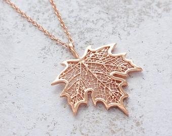 valleygirldesigns. Falls Whisper,Pumpkin Necklace,Rose Gold,Pinecone Necklace,Leaf,Flower,Fall Necklace,Copper Necklace,Harvest,Autumn