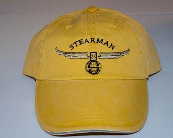 Vintage Boeing STEARMAN Logo ball cap   Free Shipping in USA
