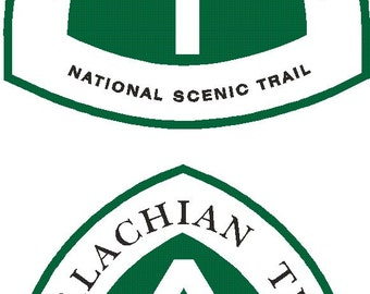 2 Appalachian Trail Scenic Trail decal  FREE SHIPPING
