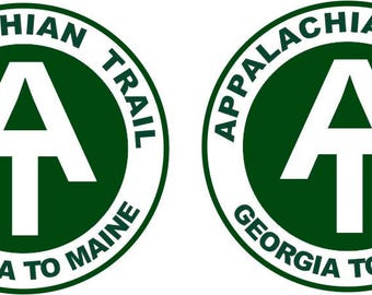 2 Appalachian Trail Decals   FREE Shipping in USA