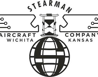 Vintage Stearman Airplane Banner  FREE SHIPPING