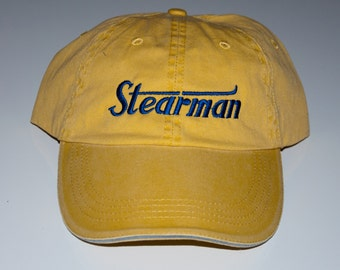 Vintage Stearman Classic Logo cap  FREE SHIPPING in USA