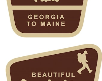 2 Appalachian Trail Georgia to Maine decals  FREE SHIPPING