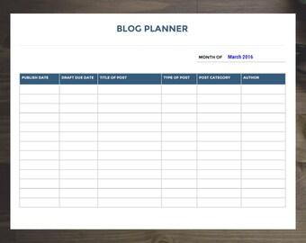 Blog Planner Kit Etsy - Blog planner template