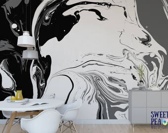 Artist loft splatter paint wall mural abstract removable Etsy