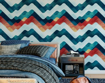 Stylized Mountains Removable Wallpaper G161-27