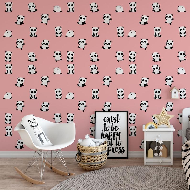 pink panda wallpaper