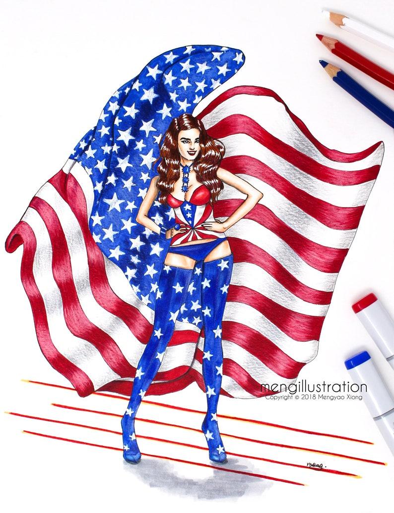 079428a5a41d Victoria s Secret AngelFashion IllustrationArt Print4th