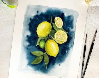 Lemons - Original Watercolor
