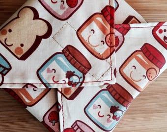 Sandwich Wrap, Reusable, PB&J fabric