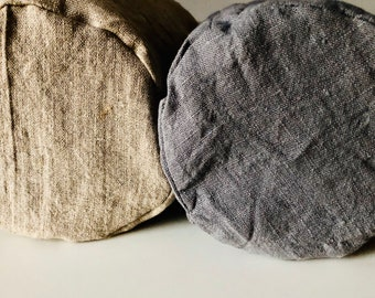 Bagel & Bun Bag, Linen, Round Bottom, Reusable