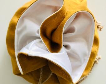 Bread Bag, Round, Boule, Reusable, Linen