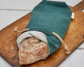 PRE-ORDER Half Baked Harvest x Etsy Bread Loaf Bag, Limited Edition Holiday Collection, Evergreen Linen, 5x9x15