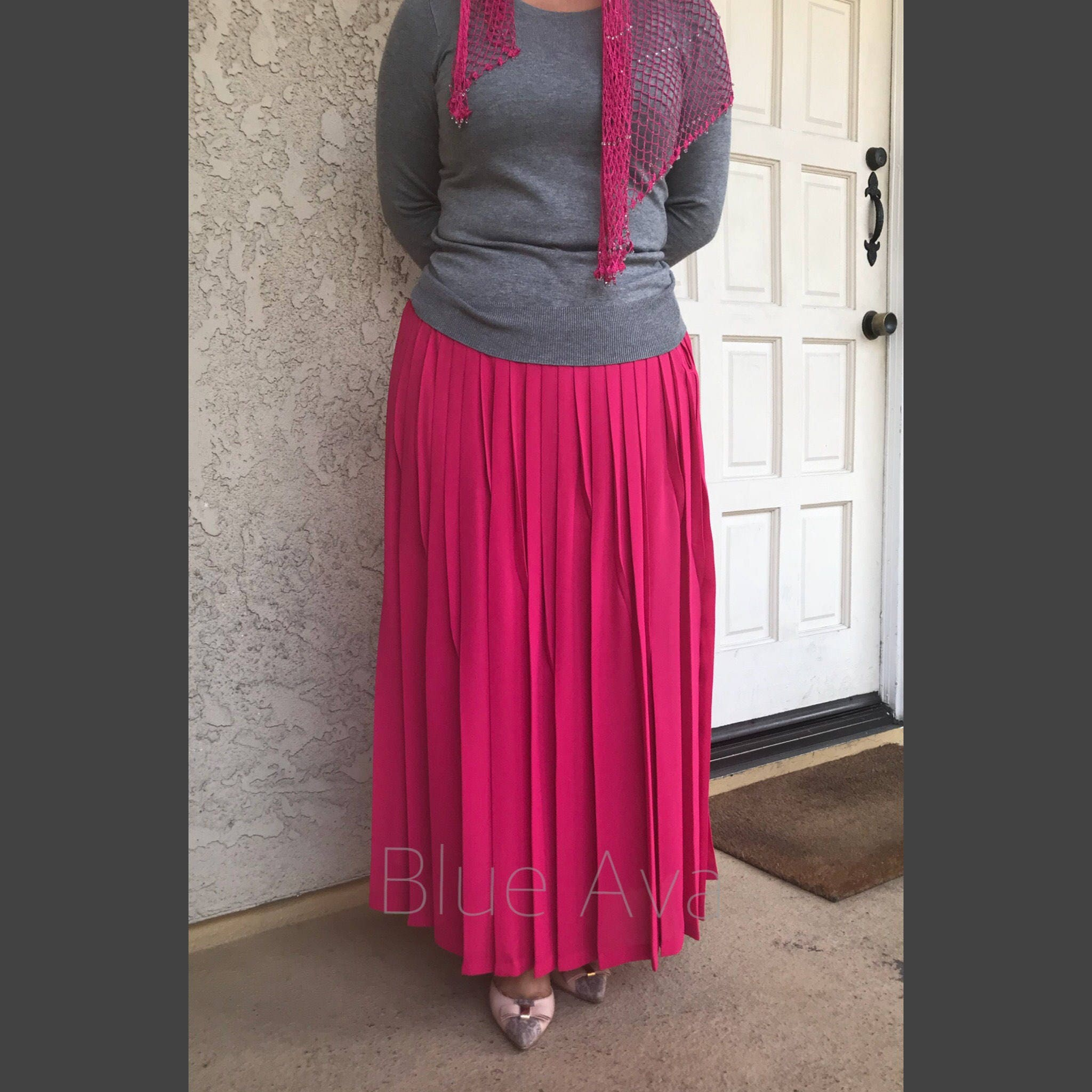 5bff0773702392 Pleated Maxi Skirt Shopstyle – DACC