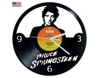 Vinyl Clock The Boss, Christmas gift, Wall clock, vinyl record clock