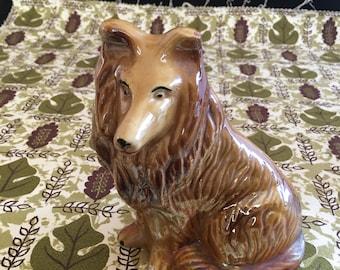 Vintage Luster Ware Collie Dog Figurine