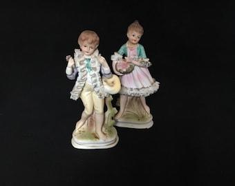 Vintage Boy and Girl Figurine