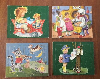 Vintage SIFO CO Cardboard Puzzles