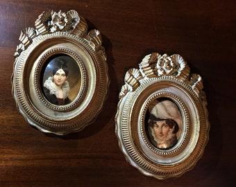 Vintage Syroco Portrait Frames