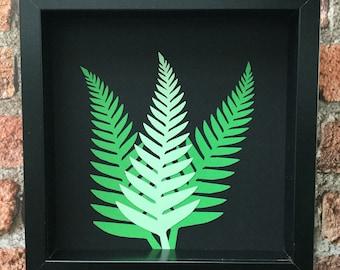 Fern Leaf Botanicals 1 - Original paper craft art.