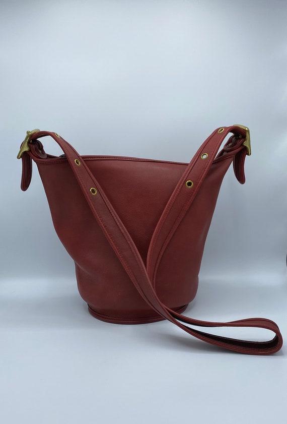 Vintage Coach | Coach  Bag |  9953 | Red Bucket |