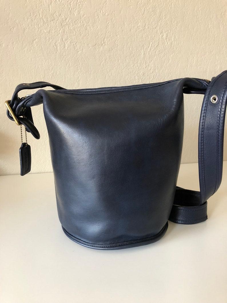 97d45f06e5a2 RESERVED Vintage Coach Coach Bag Coach Blue Bucket Bag