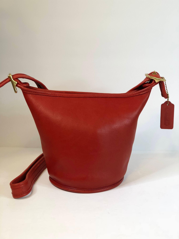 4715dc074ef1 ... clearance vintage coach red coach small bucket bag coach crossbody 9019  8d0d7 85367