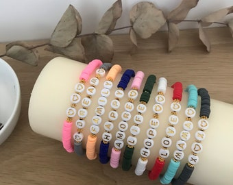 Mantra bracelet and heishi beads