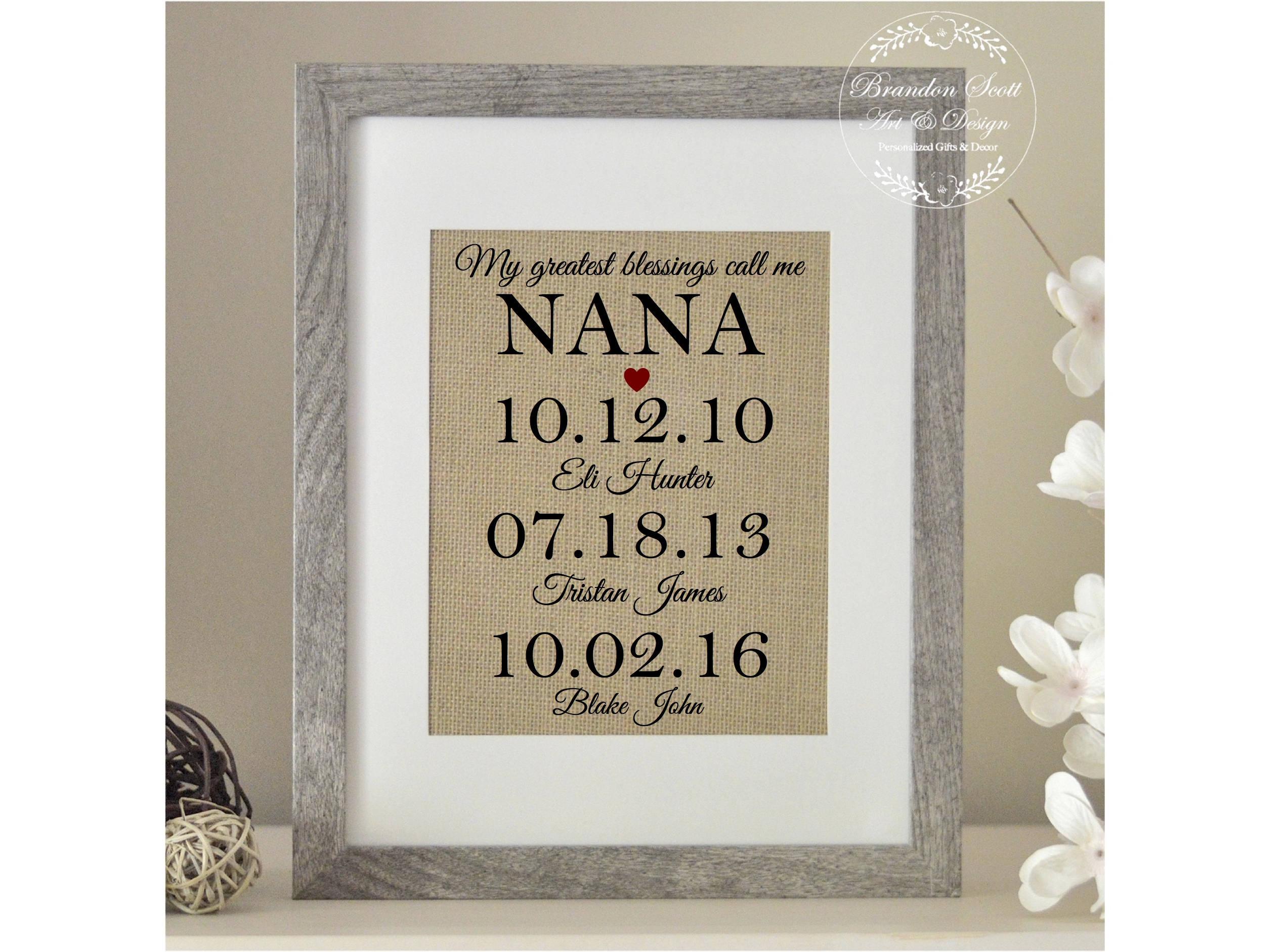 Personalisierte Nana Geschenk Muttertag für Nana meine | Etsy