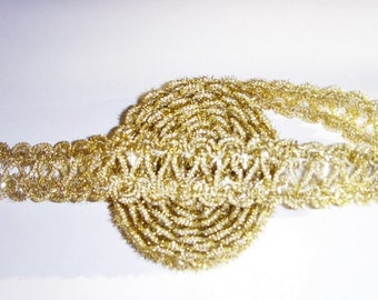 Stripe Ribbon gold designs and Decorations.
