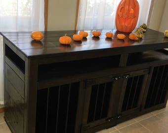 Pumpkin(#1 On Etsy)  Entertainment Center/ Dog Kennel/Custom  Kennel/Handmade Kennel/DogBed/Dog Crate Furniture/Pet Furniture/Handcrafted  Wo
