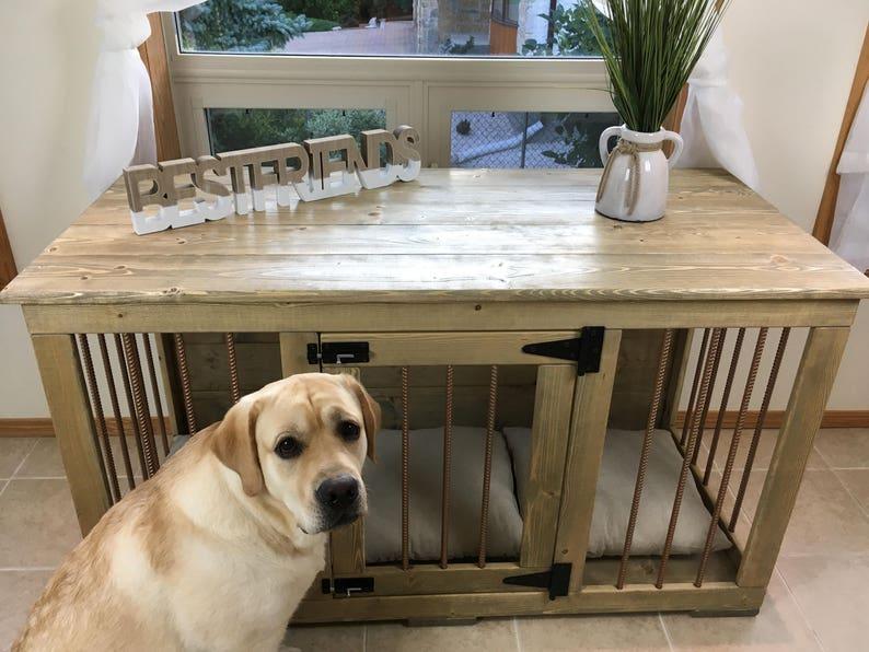 Single Dog Kennel Handmade Kennel Dog Bed Dog Crate image 0