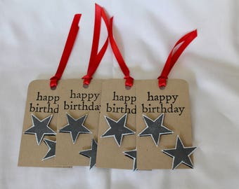 Homemade Birthday Gift Tags - set of 4
