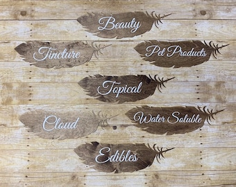 Feather wood sign | Etsy