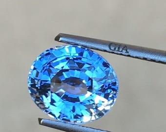 Ceylon sapphire GIA 3.02 ct