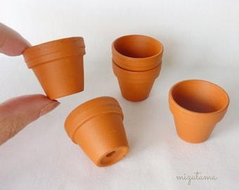 Mini Terracotta flower Pot   30 x 25 mm   1 - 6 pieces  