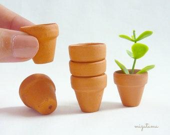 Mini Terracotta flower Pot   21 x 20 mm   1 - 3 pieces  