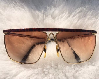 c3d8eae9637 Laura Biagiotti Vintage T36 Sunglasses Italy 1980s Rare Glasses Brown  Tortoise