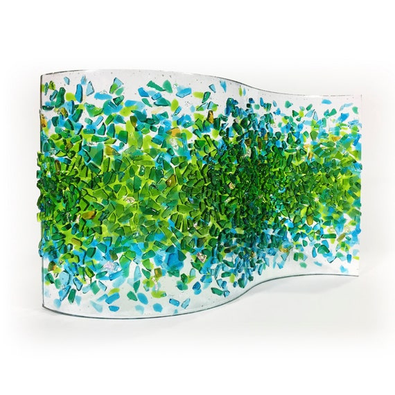 Sculpture - Fused glass - 'Summer SPLASH Glass Art'