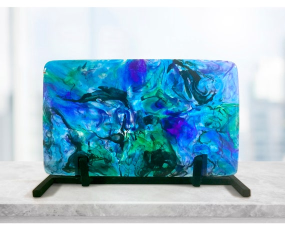 Upcycled Glass Sculpture - 'Blue Dreams'