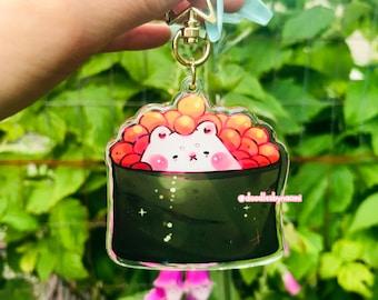 Ikura sushi keychain   Sushi keychain   Salmon roe keychain   Cute food keychain   Cute keychain