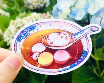 Tang Yuan sticker   Food sticker   Asian sticker   Cute vinyl sticker   Cute laptop decal