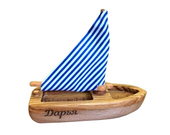 f9034950 Wooden toy Sailboat, toy boat, wooden toy, Pool Toy, sea toy