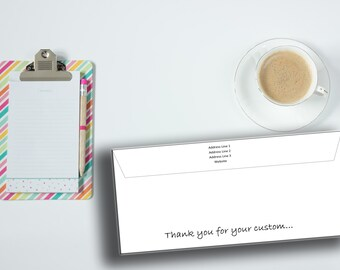 10 Personalised Envelopes