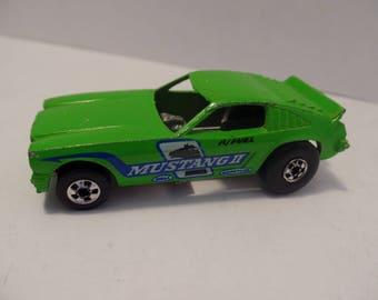 1969 Mustang II (Free Shipping!) Green Show Hoss- Black Wall wheels -Hot Wheels Redline