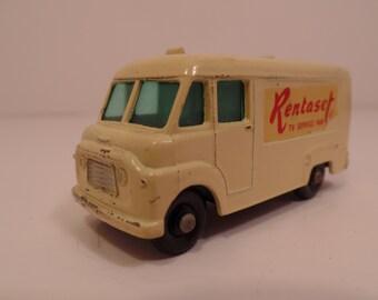 1963 TV Service Van w/TV Rentaset (No 62) SUPERFAST Lesney MaTCHBOX Diecast