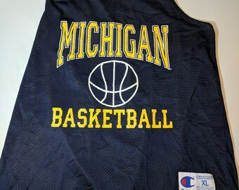 a486f62200c72 Vintage Champion Mens XL Michigan Wolverines Basketball Jersey 90s Practice