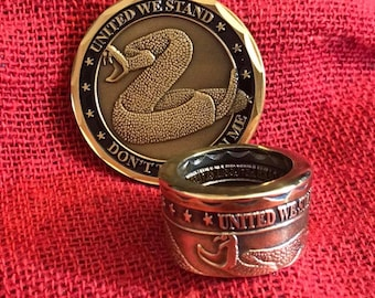 NRA & Don't Tread On Me Challenge Coin Rings