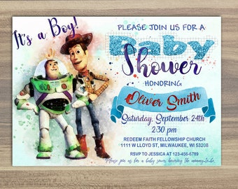 Toy Story Baby Shower Invitations Etsy